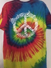 Modern Outlaw Peace Sign Tie Dye Tee