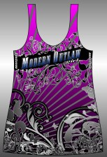 Modern Outlaw Purple Razor Back Ladies Tee