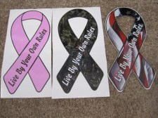 Live by Your Own Rules Ribbon Stickers